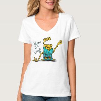 Camiseta Monstro da alegria da ioga no azul