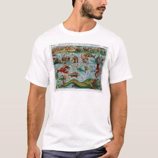 Camiseta Monstro de mar do vintage