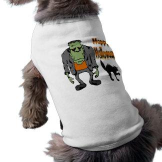 Camiseta Monstro do Dia das Bruxas - roupa preta de CatPet