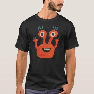 Camiseta Monstro feliz alaranjado Eyed grande engraçado