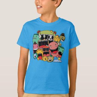 Camiseta Monstro ilustrados Doodle dos grafites dos meninos