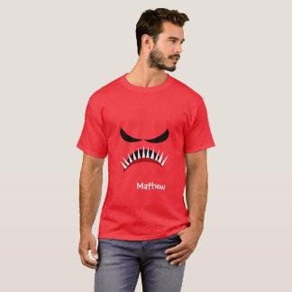 Camiseta Monstro irritado com olhos maus e os dentes