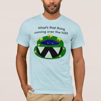 Camiseta monstro, que essa coisa está vindo sobre o monte?