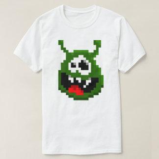 Camiseta Monstro verde - arte do pixel
