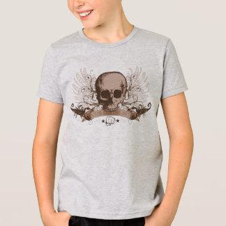 Camiseta Montagem do crânio - bronze