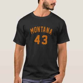 Camiseta Montana 43 designs do aniversário