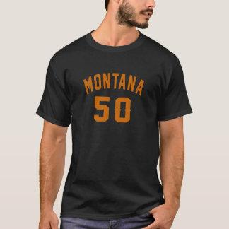 Camiseta Montana 50 designs do aniversário