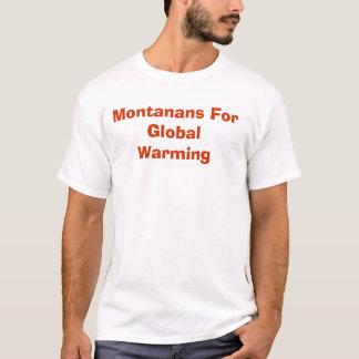 Camiseta Montanans para o aquecimento global