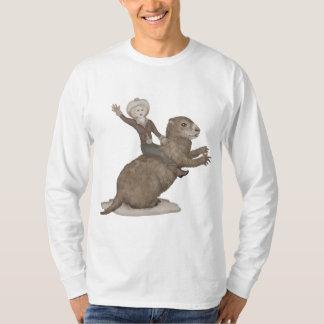 Camiseta Montando o t-shirt gigante de Groundhog