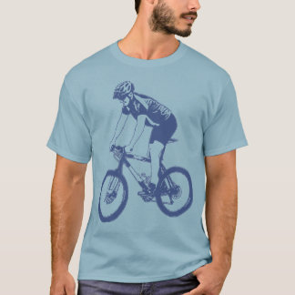 Camiseta Montanha de MTB que Biking a silhueta de solo,