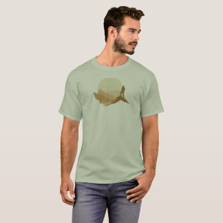 Camiseta Montanha exterior do vintage que caminha o t-shirt