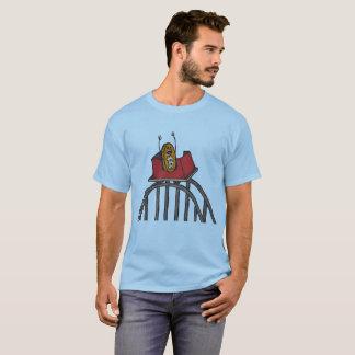 Camiseta Montanha russa de Bitcoin na parte superior