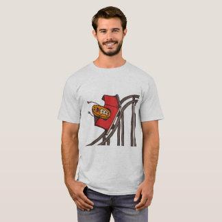 Camiseta Montanha russa de Bitcoin que vai acima