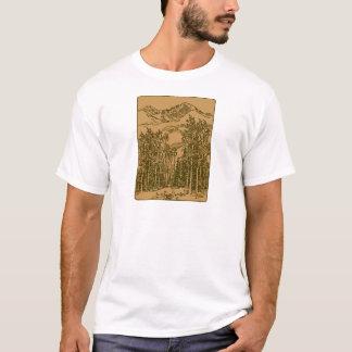Camiseta Montanhas e floresta do Sepia