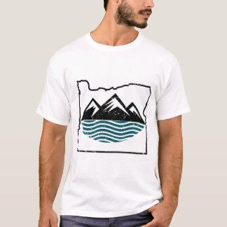 Camiseta Montanhas e ondas de Oregon