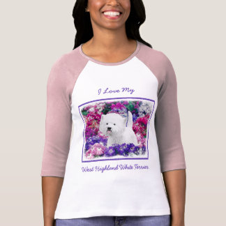 Camiseta Montanhas Terrier branco ocidentais