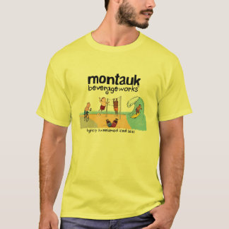 Camiseta Montauk BeverageWorks - praia e chá gelado