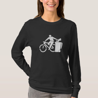 Camiseta Monte uma bicicleta não um carro