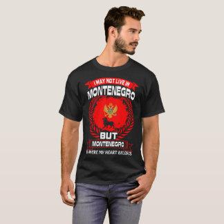 Camiseta Montenegro é o lugar onde meu coração pertence
