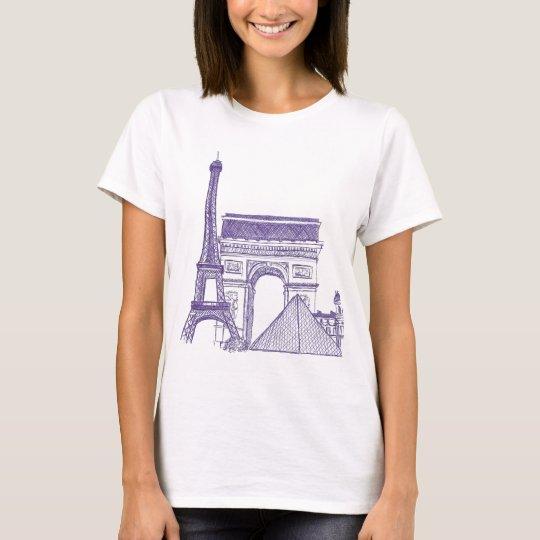 Camiseta Monumentos de Paris