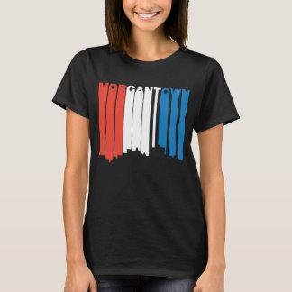 Camiseta Morgantown branco e azul vermelho West Virginia