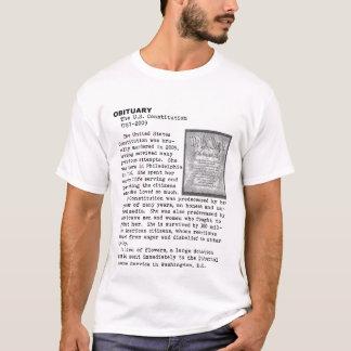 Camiseta Morte da constituição