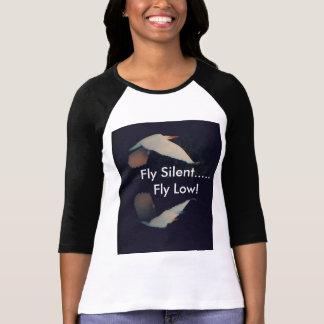 "Camiseta ""Mosca silenciosa… Baixo"" t-shirt sleeved longo da"
