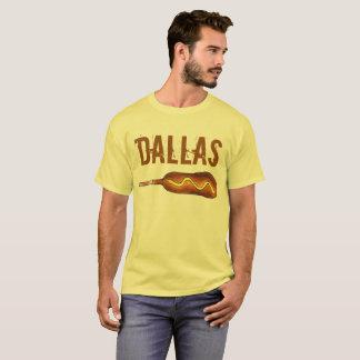 Camiseta Mostarda do amarelo do cão de milho de Dallas TX