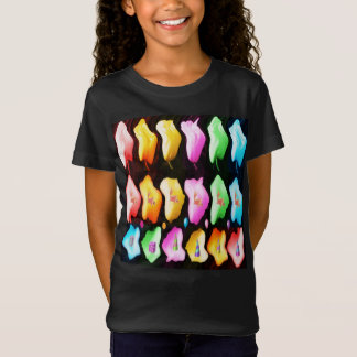 Camiseta Mostra da tulipa da pétala cor-de-rosa n das