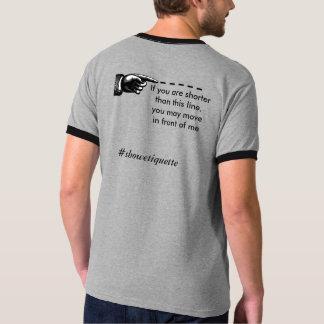 Camiseta Mostre a etiqueta