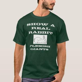 Camiseta Mostre um t-shirt real dos homens do coelho
