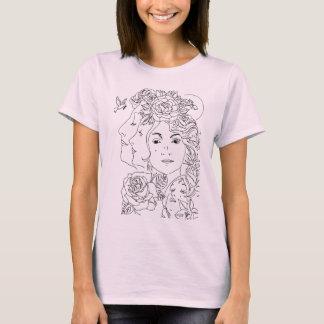 Camiseta Motivo de três sirenes