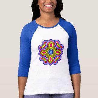 Camiseta Motivo floral colorido brilhante do arco-íris de