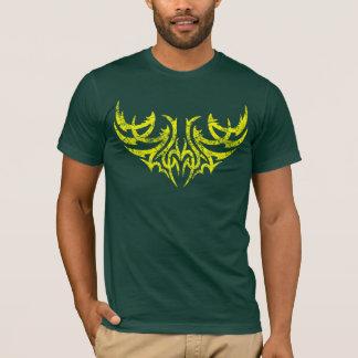 Camiseta Motivo tribal afligido amarelo 4 da asa