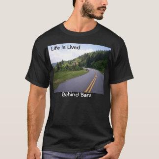 Camiseta Motocicleta azul do Parkway de Ridge puxada sobre