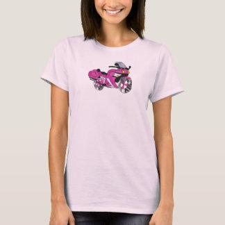 Camiseta Motocicleta cor-de-rosa no vitral