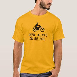 Camiseta Motocicleta - junções abertas na ponte