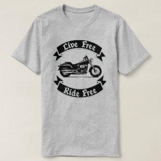 Camiseta Motocicleta livre da silhueta da borla viva