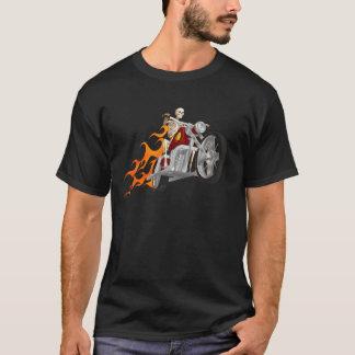 Camiseta Motociclista & chamas de esqueleto: T-shirt