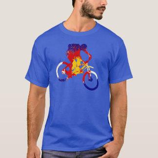 Camiseta Motociclista da montanha da bandeira do Colorado