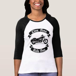 Camiseta Motociclista livre da motocicleta da silhueta da