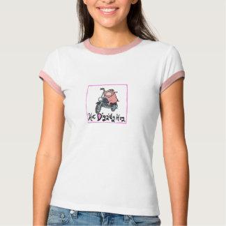 Camiseta Motociclista quente do porco de Diggity