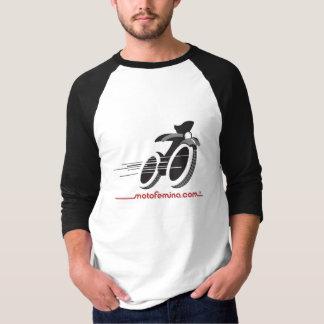 Camiseta MotoFemina 3/4 de Raglan da luva