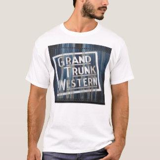 Camiseta Motor locomotivo da estrada de ferro ocidental
