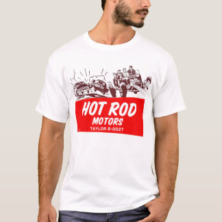 Camiseta Motores retros do hot rod do 50 do kitsch do