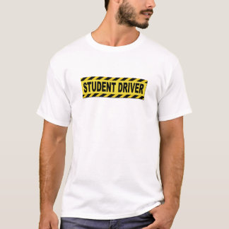 Camiseta Motorista amarelo e preto do estudante