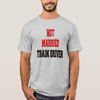 Camiseta Motorista casado quente do trem