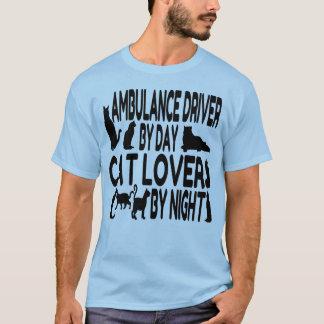 Camiseta Motorista da ambulância do amante do gato