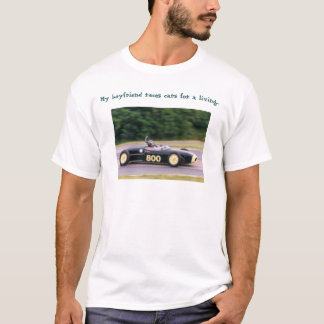 Camiseta motorista de carro de corridas