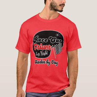 Camiseta Motorista de carro de corridas pelo barbeiro da